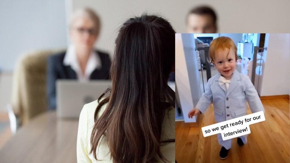 Nie miała z kim zostawić syna. Zabrała go na rozmowę o pracę