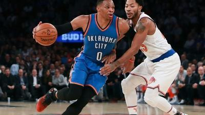 Westbrook in rare NBA territory with fifth straight triple-double