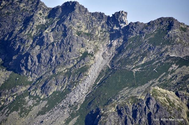 Obryw skalny w Tatrach
