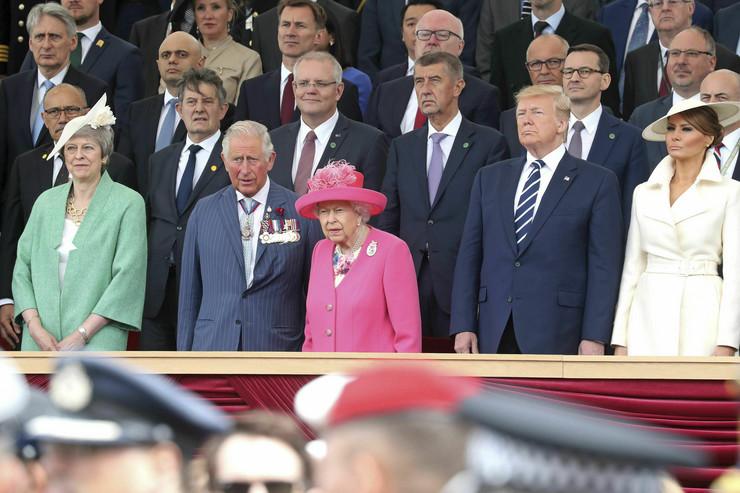 Donald Tramp, Emanuel Makron, evropski lideri, Dan D
