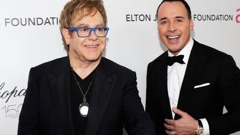 Elton John i David Furnish (fot. Getty Images)