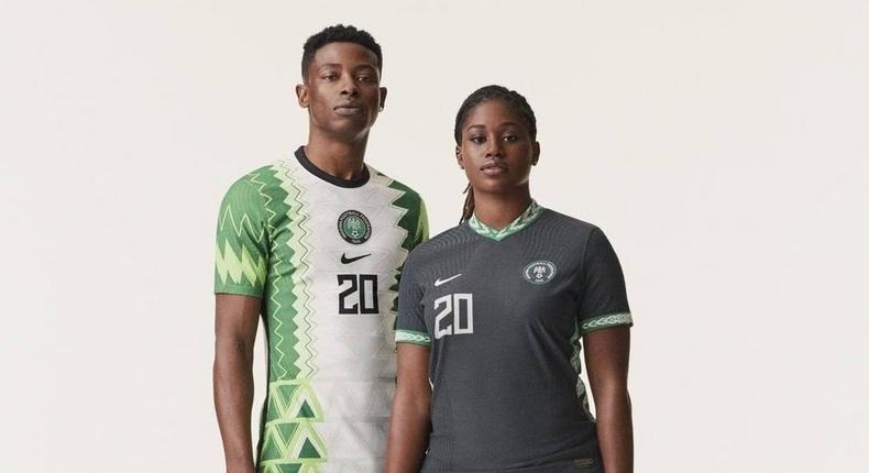 The new Super Eagles Nike jerseys have been presented to Buhari