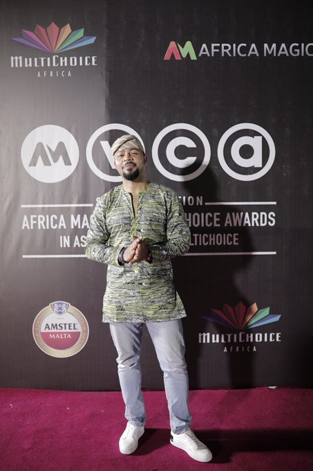 Ramsey Nouah at the 2020 AMVCA nominee cocktail party [Afriac Magic TV]