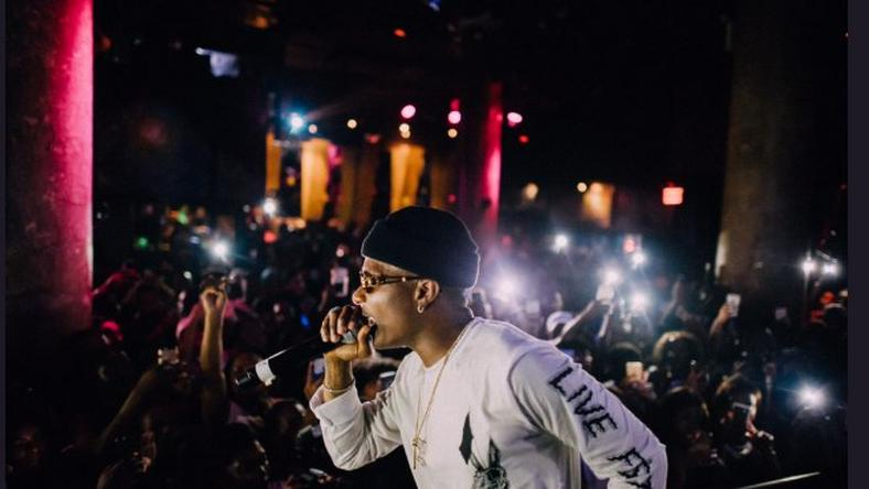 "Wizkid performing at the SOBs for his ""Sounds from the Other Side"" album launch party in New York"