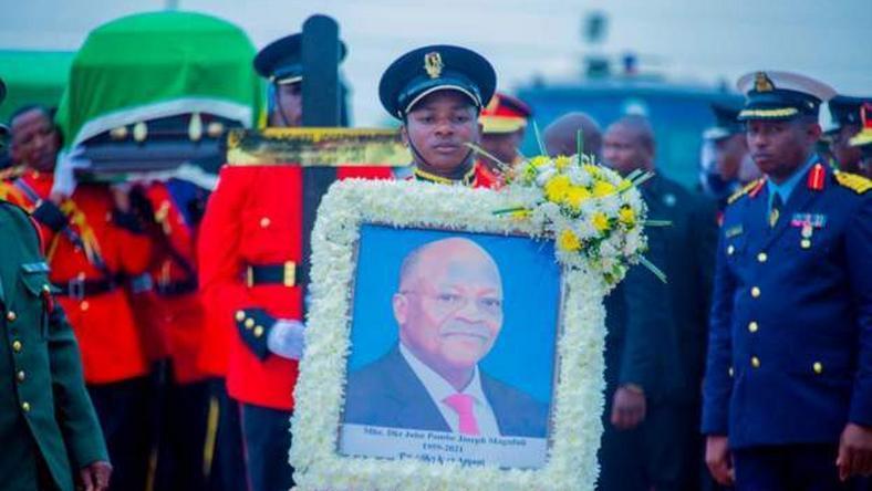State burial ceremony underway for Tanzania's Magufuli