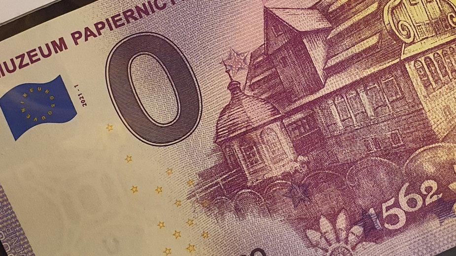 Muzeum Papiernictwa w Dusznikach-Zdroju wydaje banknot o nominale 0 euro