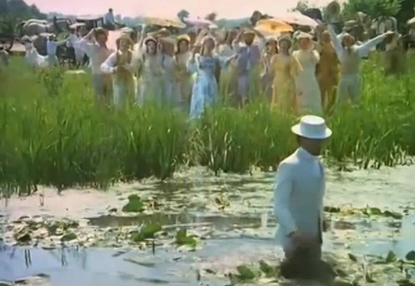"Karol Strasburger w filmie ""Noce i dnie"""