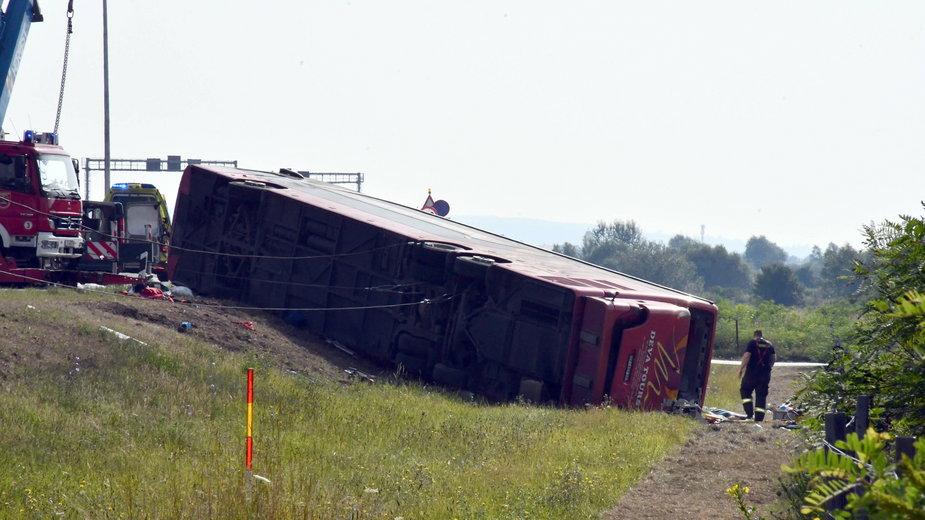 Chorwacja: Wypadek autokaru na autostradzie. Zginęło 10 osób