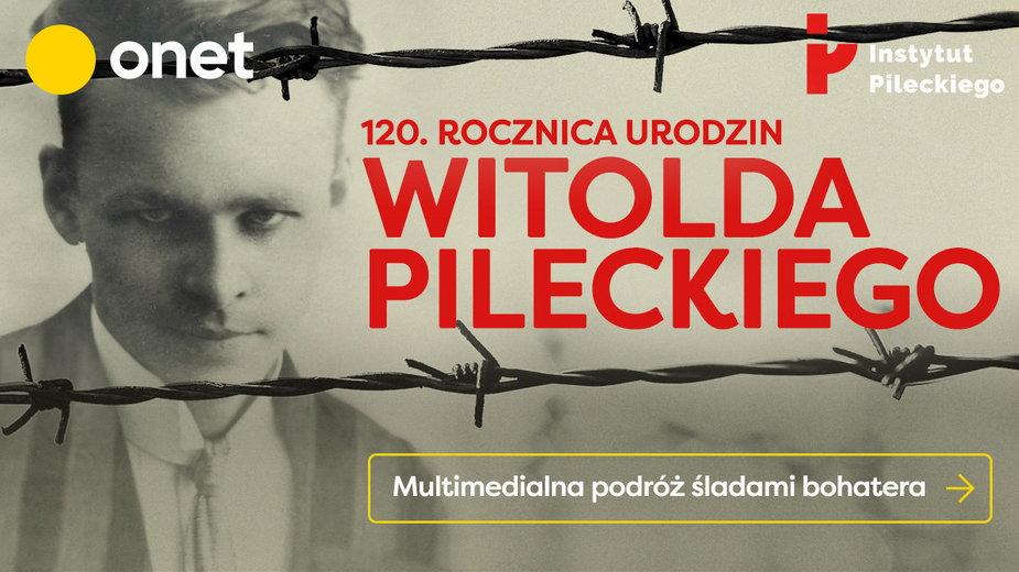 """Plakat reportażu multimedialnego """"Pilecki"""""""