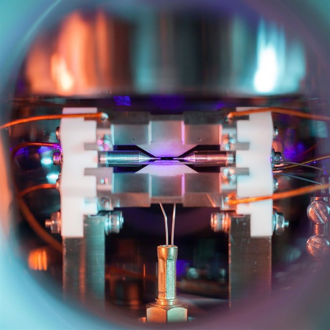 Single Atom in an Ion Trap (fot.: David Nadlinger/ EPSRC)