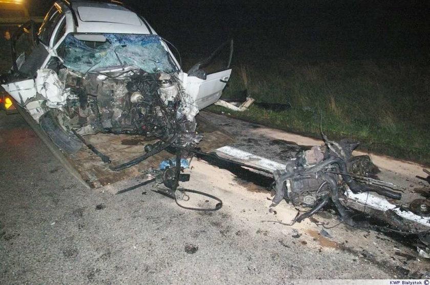 Tyle zostało z passata. Kierowca nie żyje. FOTO