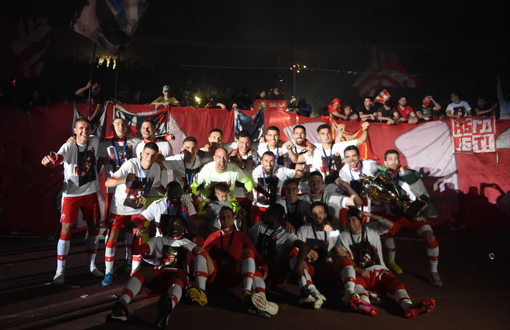 Proslava 31. titule šampiona države FK Crvena zvezda
