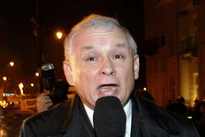 Jarosław Kaczyński jest zły