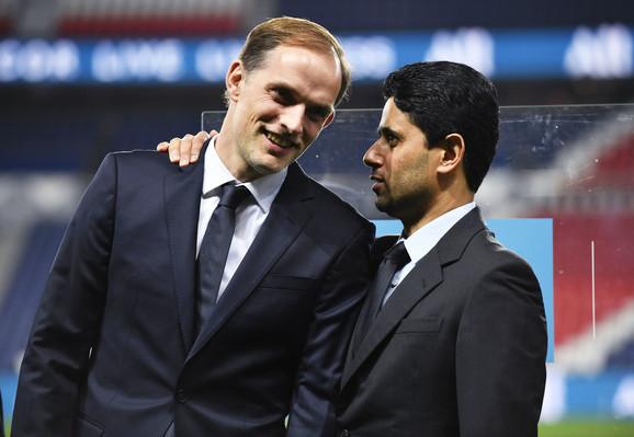 Naser al Kelaifi sa trenerom Parižana Tomasom Tuhelom
