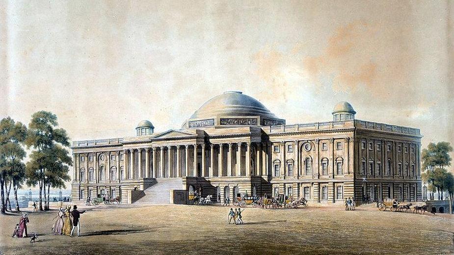 Kapitol Stanów Zjednoczonych w 1825 roku (domena publiczna)