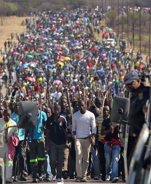 Južnoafrički rudari u štrajku