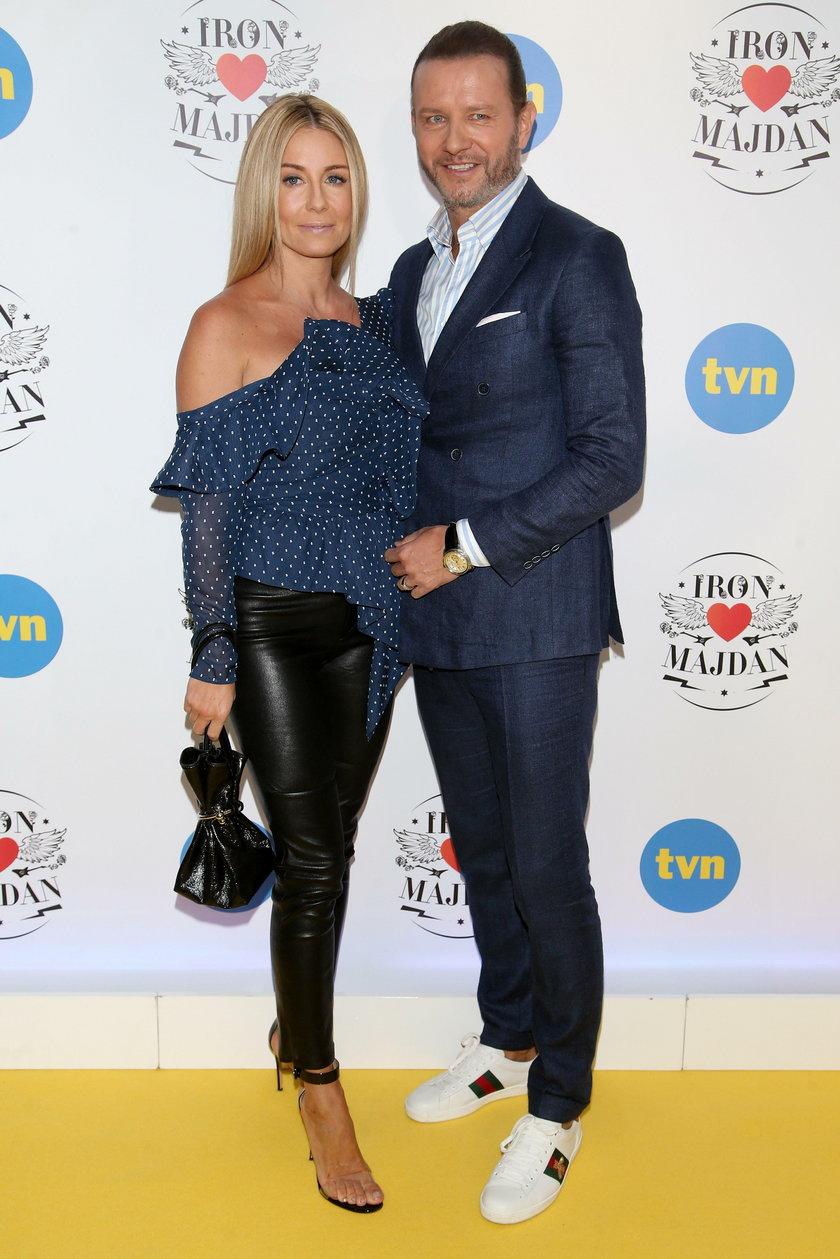 Małgorzata Rozenek z mężem