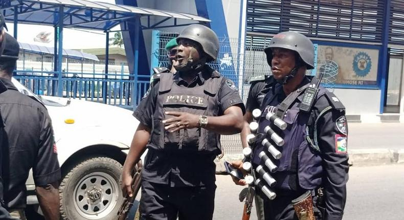 Nigerian police officers [LSPC]