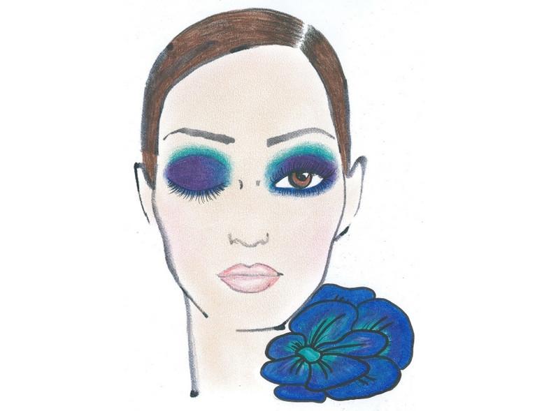 """""""Cesarski błękit"""" - jedna z propozycji makijażu Sephory na jesień 2011."""