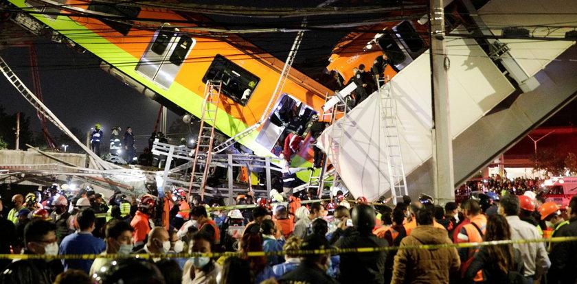 Zawalił się wiadukt kolejowy w Meksyku. Nie żyją co najmniej 23 osoby