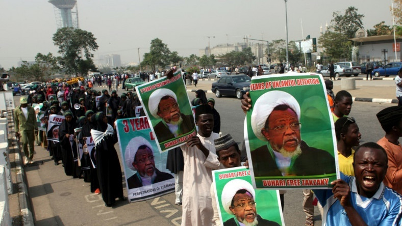 The Shiite sect in Nigeria embark on a procession (Punch)
