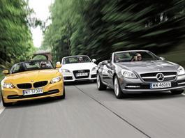 Trzy emocjonujące roadstery – kupić używane Audi TT, BMW Z4 czy Mercedesa SLK?