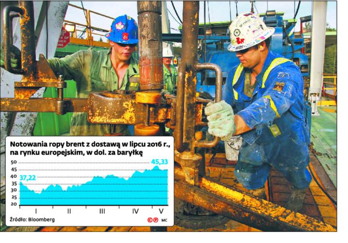 Notowania ropy brent z dostawą w lipcu 2016 r., na rynku europejskim, w dol. za baryłkę