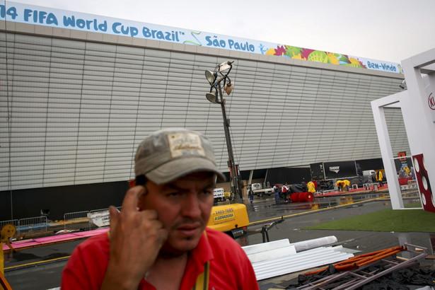 Sao Paulo jest jedną z aren mistrzostw świata w Brazylii EPA/DIEGO AZUBEL