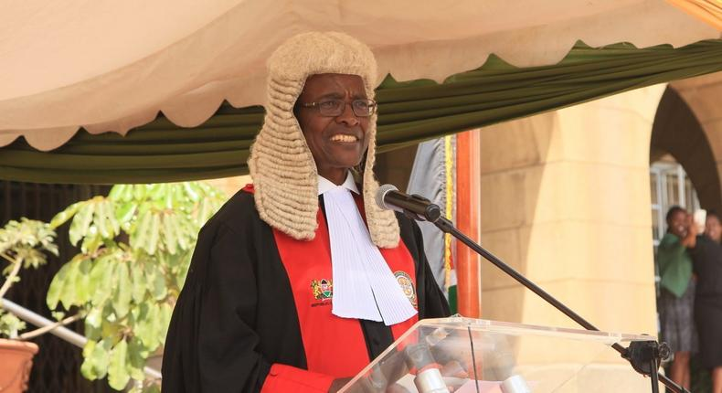 Chief Justice David Maraga during a past event at the Supreme Court (Twitter)