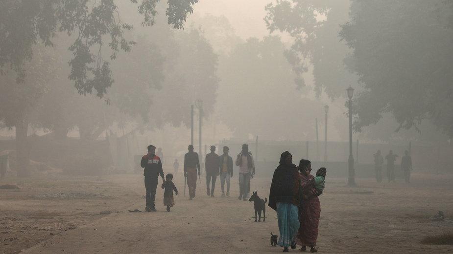 Smog w stolicy Indii, New Delhi, 10 listopada 2020 r.