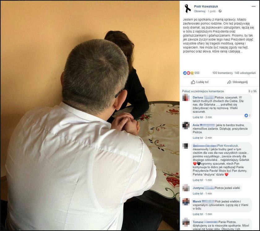 Wiceprezydent Gdańska spotkał się z matką Stefana W.