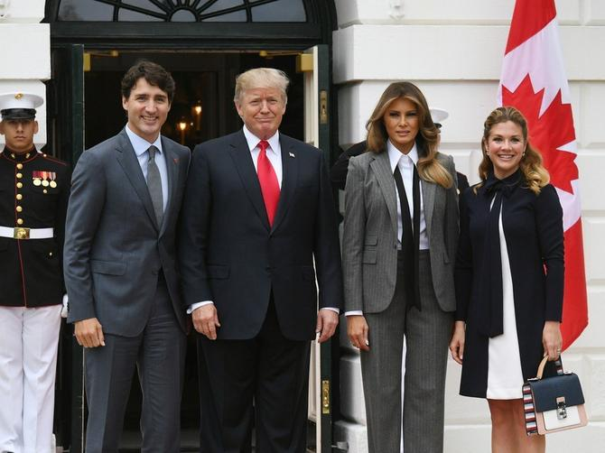 Melanija, kraljica si: Prva dama Amerike lepotom očarala i kanadskog premijera