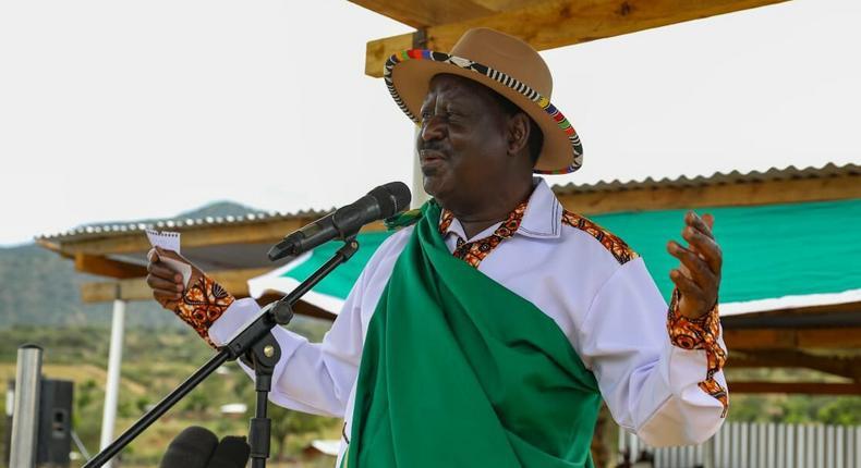 ODM Party Leader Raila Odinga