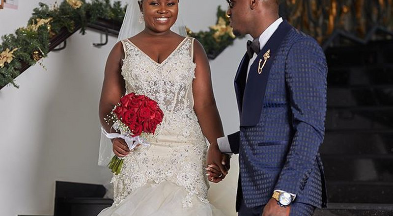 Photos & video from Ghanaian musician, Kaakie's white wedding