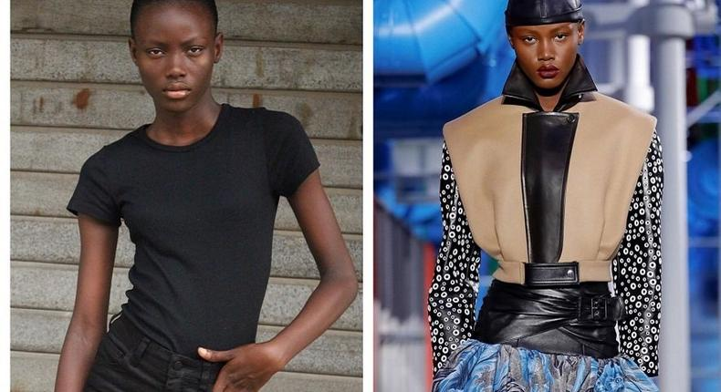 16-year-old Jumbo was spotted on her way back from church. Now, she has become the first Nigerian to walk for Louis Vuitton (face2faceAfrica)