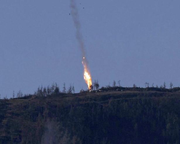 Zestrzelenie rosyjskiego SU-24 przez Turcję EPA/HABERTURK TV CHANNEL MANDATORY CREDIT: HABERTURK TV CHANNEL Dostawca: PAP/EPA.