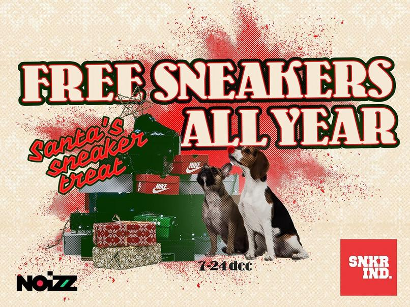 FREE SNEAKERS FOR A YEAR