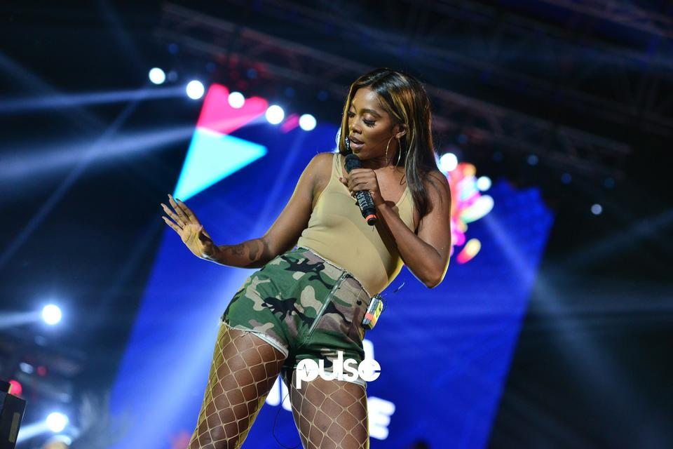 Tiwa Savage performing at Born In Africa Festival 2018