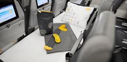 Łóżka na pokładzie samolotu. To tanie linie!