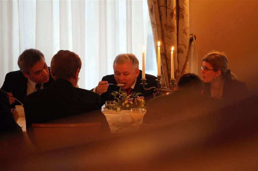 Ugościli Kaczyńskiego jak króla