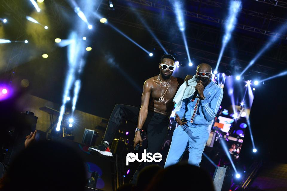 D'Banj and Ikechukwu performing at Born In Africa Festival 2018