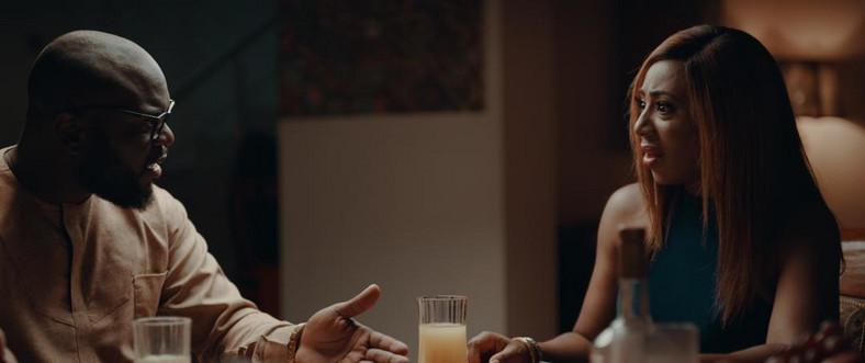 Ayoola and Dakore on the set of Inkblot's new film, 'The Set Up' [Inkblot]