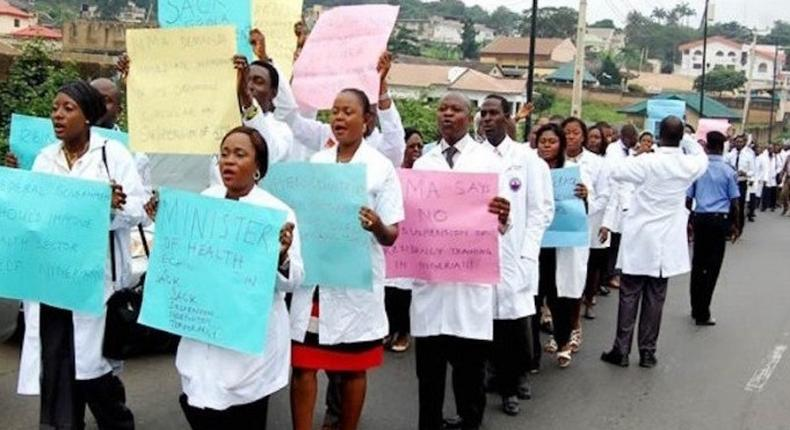 Striking doctors - Photo for illustrative purpose