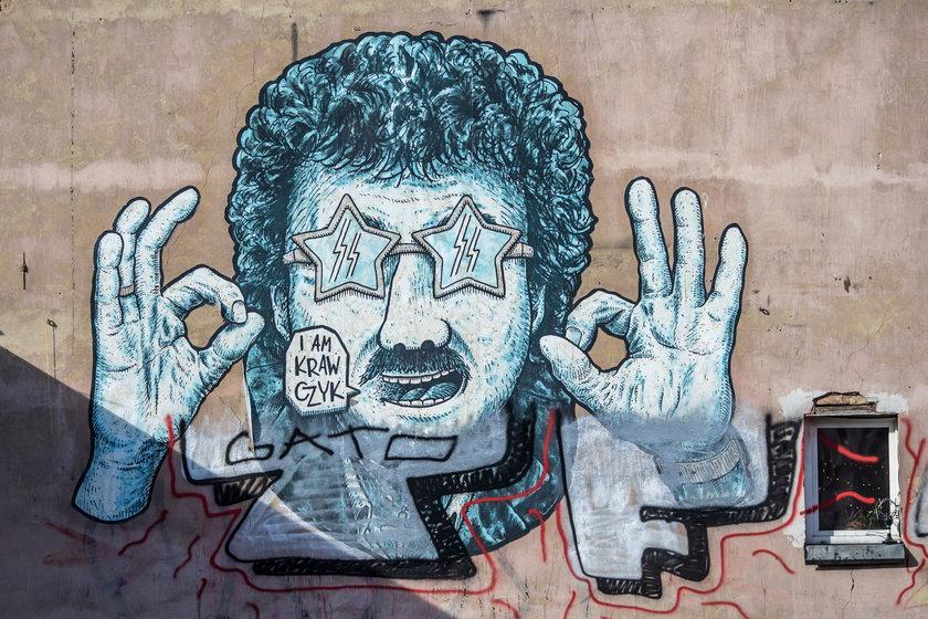 Mural z Krzysztofem Krawczykiem na poznańskiej Wildzie