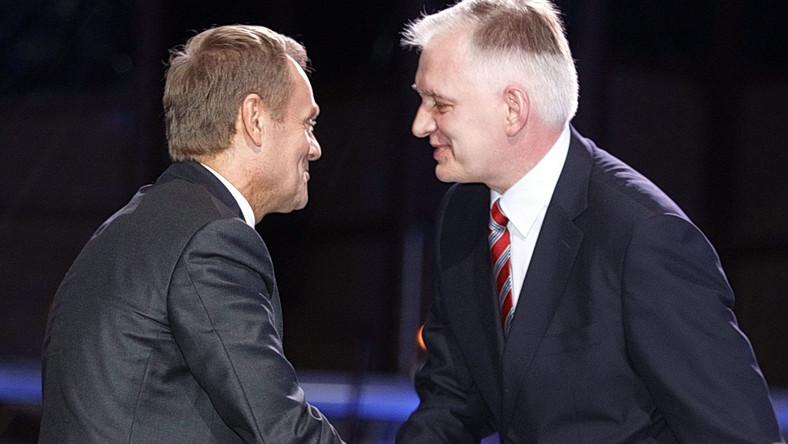 Poseł PO, były minister sprawiedliwości Jarosław Gowin i premier Donald Tusk w 2013 roku