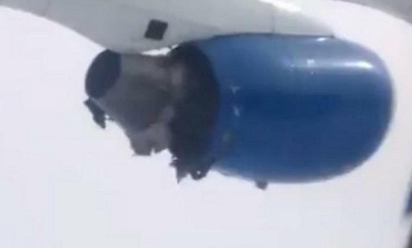 Przerażenie w samolocie. Silnik wybuchł w powietrzu