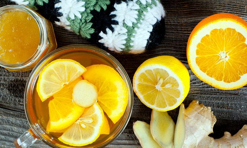Herbata imbirowa z cytryną i pomarańczą