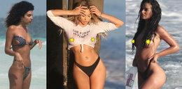 Gwiazdy na plaży w skąpych bikini. Która zaliczyła wpadkę?