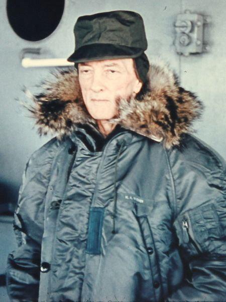 """Kontradmirał Richard Byrd podczas operacji """"Deep Freeze"""""""