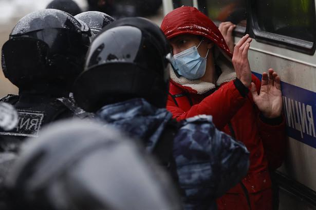 Protest zwolenników Nawalnego